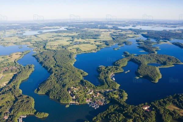 Masurian-lake-district-Aerial-view-of-masuria