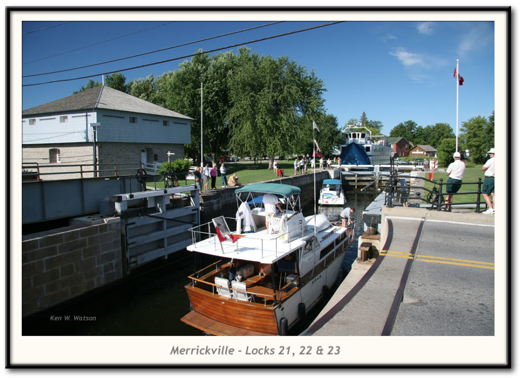 Merrickville, Locks 21, 22 and 23.  Rideau Canal World Heritage Site, Ontario, Canada