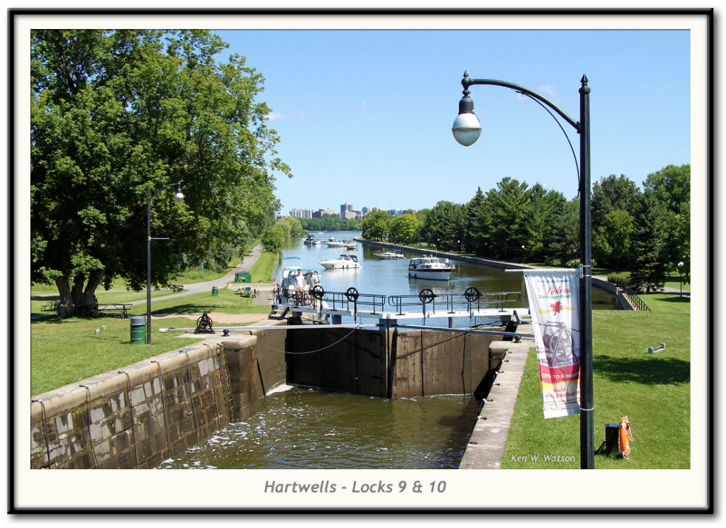 Hartwells Locks 9 and 10.  Rideau Canal World Heritage Site, Ontario, Canada